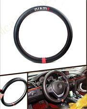 1Pcs Car Nismo Power Black Carbon Fiber Luxury Auto Vehicle Steering Wheel Wrap