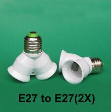 Di alta qualità a vite Edison E27 a 2xE27 Lampadina Lampada Titolare Adattatore Splitter