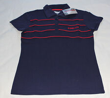 Kenworth Truck Ladies Navy Blue Embroidered Short Sleeve Polo Shirt Size 18 New