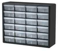 Drawer Bin Cabinet, 6-3/8 In. D, 20 In. W AKRO-MILS 10124