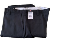 Dickies Mens Relaxed Fit Straight Leg Black Carpenter Duck Jeans Size 42x32 NEW