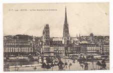 rouen le pont boïeldieu et la cathédrale  (a0116)