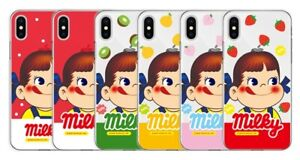 Official Fujiya Milky Peko Fruits Candy Girl Phone Case For iPhone X XS MAX XR 8