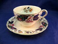 """ANTIQUE GRINDLEY TEA CUP AND SAUCER - MADE IN ENGLAND """"MARLBOROUGH"""""""