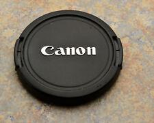 Genuine Canon EOS E 52mm Snap-On Front Lens Cap Chrome Logo 50mm 1.8 (#2988)