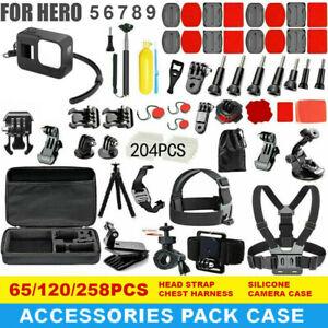 GoPro Hero 9 8 7 6 5 Accessories Pack Case Chest Head Bike Monopod Float Mount
