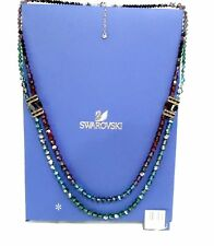 Swarovski Sumptuous Long Necklace Ruby/Emerald colors Crystal Authentic 1160466