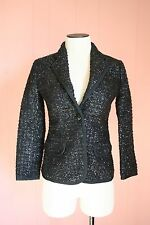 Maison Kitsune Confetti Jacket JCrew 34 French 2 US NWT Black Navy Blazer Suit