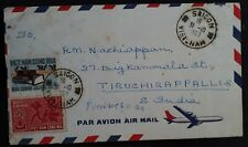 1968 South Vietnam Airmail Cover ties 2 stamps from to Tiruchirappalli India