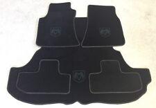 Autoteppich Kofferraum Set für Dodge Challenger 2008'- schwarz Kunstleder Velour