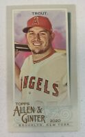 2020 Topps Allen & Ginter Mike Trout Mini A&G Back #85 Los Angeles Angels