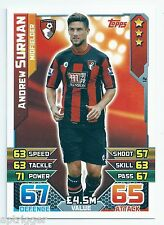 2015 / 2016 EPL Match Attax Base Card (12) Andrew SURMAN AFC Bournemouth