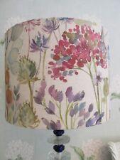 Handmade Drum Lampshade Voyage Hedgerow Linen fabric 30cm