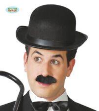 Costume da uomo Bombetta Inglese Gentiluomo Velour Bowler Gents con fascia di raso
