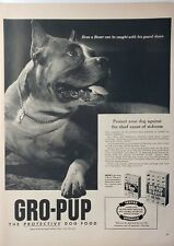 Lot of 3 Vintage Gro-Pup Dog Food Print Ads Even a Boxer Can Be Caught