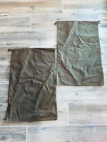 LOT of 2 Authentic GUCCI Brown Drawstring Dust bags