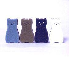 """Design in Japan"" Kawaii Cartoon Cat Kitchen Sponge 4 color set"