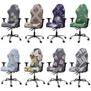 Stretch Slipcover Computer Office Chair Cover Gaming Seat Covers Floral Decor