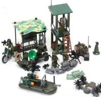 SET 4in1 Military FIREWAR with Soldier SWAT Army Figures Weapon Lego Toys Custom