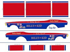 Bobby Yowell Billy The Kid Dodge Colt 1/43rd Scale Slot Car Decals Custom label: