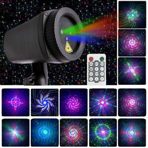 Sky Laser Projector Star Christmas Moving Full Landscape Lighting Outdoor RGB