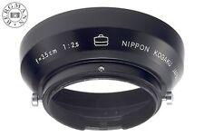 Nippon Kogaku Lens Hood 43mm for NIKON RF W-NIKKOR 2.5/3.5cm rangefinder  MINT!
