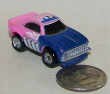 Small Micro Machine Dodge Charger Funny Car Dragster in Blue & Pink