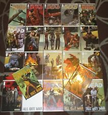 Lot of 22 The Walking Dead Comic Book Run ALL OUT WAR 110-122 + Covers Image B&B