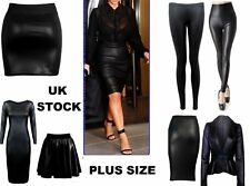 New womens look PVC sexy bodycon dress mini skirt top leggings plus size WeTALL