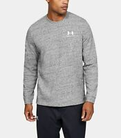 Under Armour UA Sportstyle Terry Logo Crew Men's Long Sleeve 1355629-112 LARGE