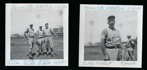 Two1965 Gabby Hartnett Kansas City Athletics Candid Photos at Municipal Stadium