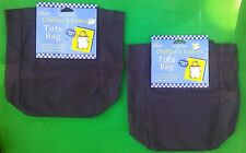 CANVAS CRAFT BAGS Tote 2 Black 100% Cotton School Cross Stitch Paint NEW! Art