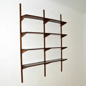 DANISH RETRO ROSEWOOD PS SHELVING SYSTEM BOOKCASE VINTAGE 1960's