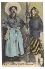 boulogne-sur-mer  , dame de la halle et pêcheuse de crevettes