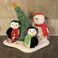 2006 Hallmark Jingle Pals Very Merry Trio Animated Musical Snowman Penguin Plush