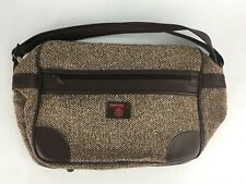 New Vintage Frequent Traveler Brown Tweed Carry On Bag