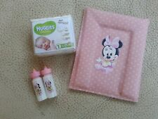 1/12TH DOLLS HOUSE OOAK CHANGING MAT / NAPPIES AND BABY BOTTLES