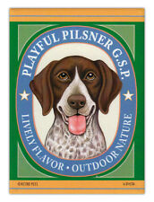 Retro Dogs Refrigerator Magnets - German Shorthaired Pointer Pilsner (Gsp)