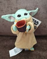 Disney Store The Mandalorian The Child Grogu With Cup Soft Toy Baby NWT 2/4