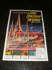 "FIRST SPACESHIP ON VENUS Original 1962 Movie Poster, 27"" x 41"", C8 Very Fine"