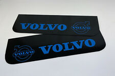 Mud Flaps Truck Lorry VOLVO 18x60cm Smooth Black with Blue Logo