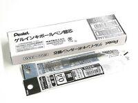 10 x Pentel Energel XLRN4 0.4mm Ultra Fine Roller Ball Pen Only Refills, BLACK