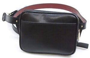 Calvin Klein Zip-Top Belt Bag Leather Fanny Pack - Size MEDIUM - NEW w/ Tags