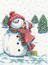 Cross Stitch Kit ~ Design Works Red Hat Snowman #DW5913