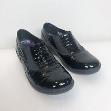 Womens Skechers Flexibles Black patent leather shoes size 7