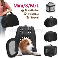 Pet Carrier Bag Portable Soft Fabric Folding Dog Cat Puppy Travel Carry Carrier