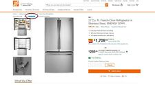 Lg refrigerator (Gne27Esmss) - 27 cu.feet French Door