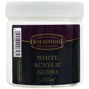 White Acrylic Gesso - 500ml, Art & Craft, Brand New