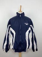 Vintage Nike Mens Full Zip Windbreaker Jacket Blue 90s - Size XL