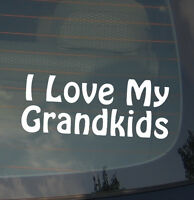 "I Love My Grand Kids Grand Parent Proud Pride Love Funny Decal Sticker 7.5"""